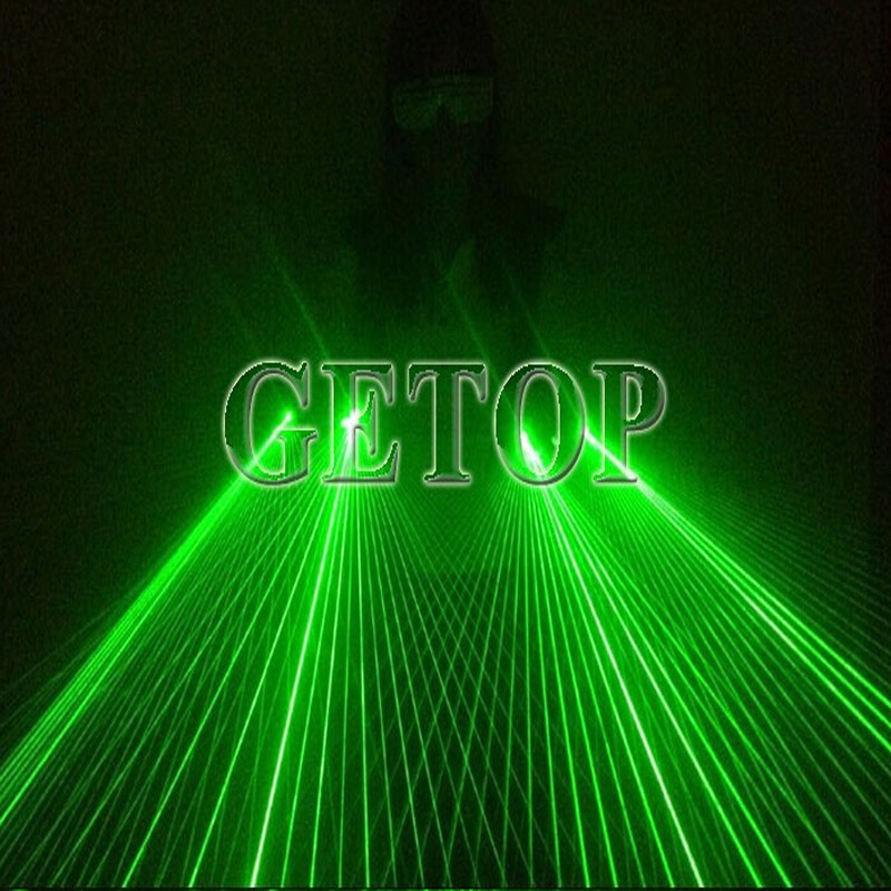 Z Laser Dancing Strong Glove DJ Party LED Lamp Luminous Gloves Green Laser Glove Event Party Supplies LED Light Bar Night Laser