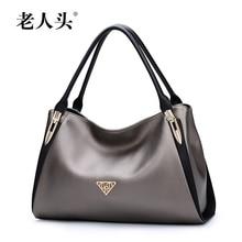 2016 New LAORENTOU quality genuine leather women bag famous brands fashion embossing women handbags shoulder cowhide Killer bag