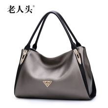 2017 New LAORENTOU quality women bag famous brands fashion embossing women handbags shoulder cowhide Killer bag