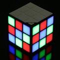Новый Волшебный Кубик рубика Портативный СВЕТОДИОДНЫЙ RGB Свет Глубокий Бас Bluetooth 4.0 Беспроводные Колонки с Микрофоном громкой связи Режим Карты ПАМЯТИ