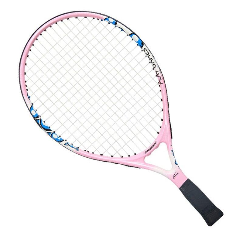 Детская Теннисная ракетка для учеников начальной и средней школы, начинающих, полностью углеродная ракетка, спортивные товары для обучения детей - Цвет: 19 inch