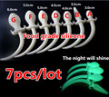7pcs hot sale 100% pure soft silicone anal plug fox tail big noctilucent butt plug long tail white anal plugs buttplug sex toys