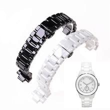 ישים כדי ארמני קרמיקה שעון 20mm23mm שחור לבן בהיר קרמיקה רצועת שעון דגם AR1424 AR1472 AR1421 AR1424 watchbands