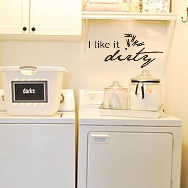 Laundry Quote   I Like It Dirt With Clothespins Laundry Room Wall Decal  Vinyl Art Sticker