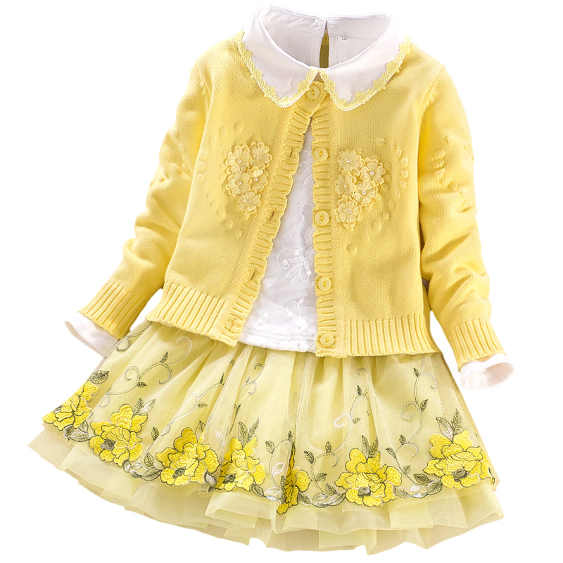 Baby girls Princess suits 2018 autumn winter school kids clothes coat+t shirt+skirts 3pcs Children clothing sets 3 4 6 8 9 years 2015 autumn girls clothes fashion punk pu leather coat jacket shirt pants 3pcs children clothing set 4 15 years old kids clothes page 10