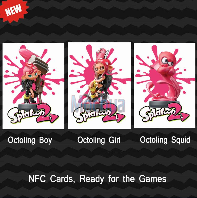 16pcs Nfc Amiibo Coin Cards For Splatoon 2 With Octoling Boy Girl Squid Excellent Quality In