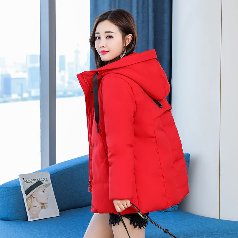 Plus Capuchon 5xl Parka Épaissir Veste Chaqueta Taille Automne Red À D'hiver Mujer black Red La L brick Manteau Femmes Survêtement Q937 Chaud pwPqp