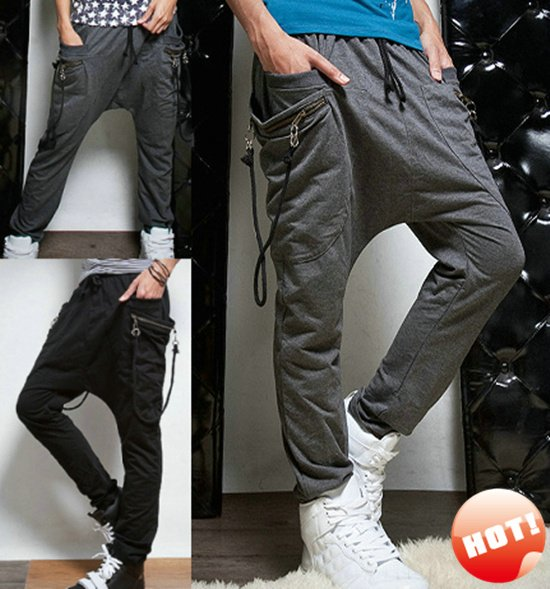 fa7bdb9270e3 NWT NEW Men Casual Sporty Hip Hop Dance Harem Baggy Tapered Sport Sweat  Pants Trousers Slacks Sweatpants Free Shipping