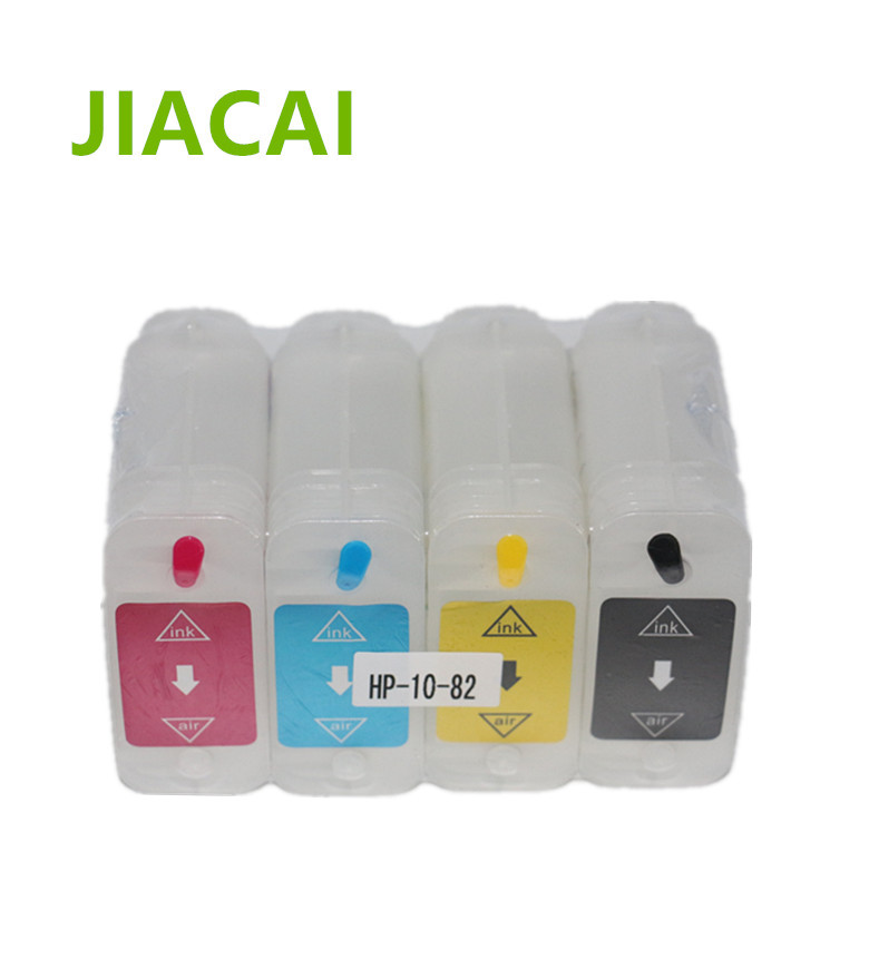 High quality 4 pieces/lot 69ml for HP 10/82 Refill Ink Cartridge for HP designjet 500/800 refillable ink cartridge with ARC chip free post 4 pieces lot refillable ink cartridge for hp 920 920xl hp920 hp920xl ink cartridge with permanent chip