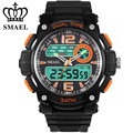 SMAEL Brand Big Sports Watches Men Dual Time Display 30M Waterproof Shock Resistant Watches Alarm Date  Mens WirstwatchWS1326