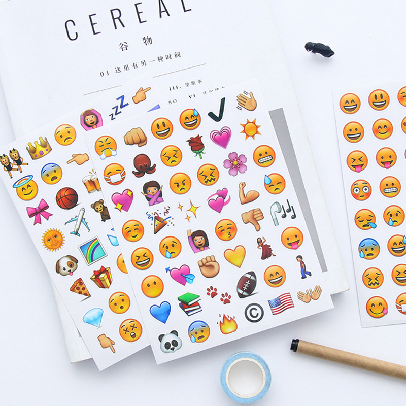 4 Pcs/lot Cute Emoticons Smiling Face Paper Sticker Diy Planner Decorative Sticker Scrapbooking Diary Kawaii Stationery