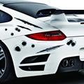 2X Car sticker design 3D Decalques Emblema Símbolo de Bala Falsificados buraco Tiros Criativo personalizado adesivos de Carro engraçado Adesivo Capacete Para carro