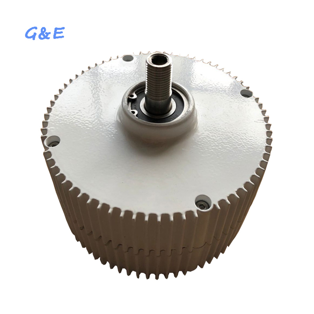 Small Three Phase 400W Permanent Magnet Generator 12V 24V 48V Alternator PMG With DC Controller