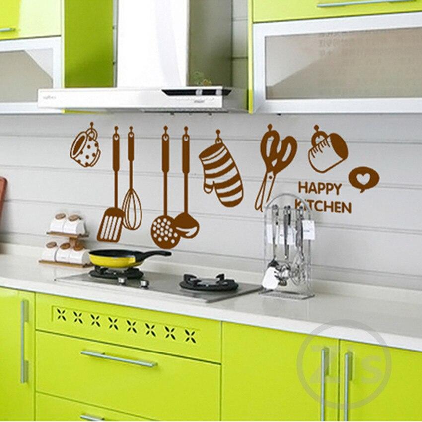 Zs Sticker adesivi murali cotto home decor utensile da cucina murale  smontabile del vinile cucina merci in Zs Sticker adesivi murali cotto home  decor ...