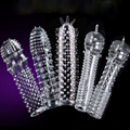5 models Penis Sleeves Ring Delay Enlargement Soft Condoms,Sex toys for men,sex product for male 1PCS