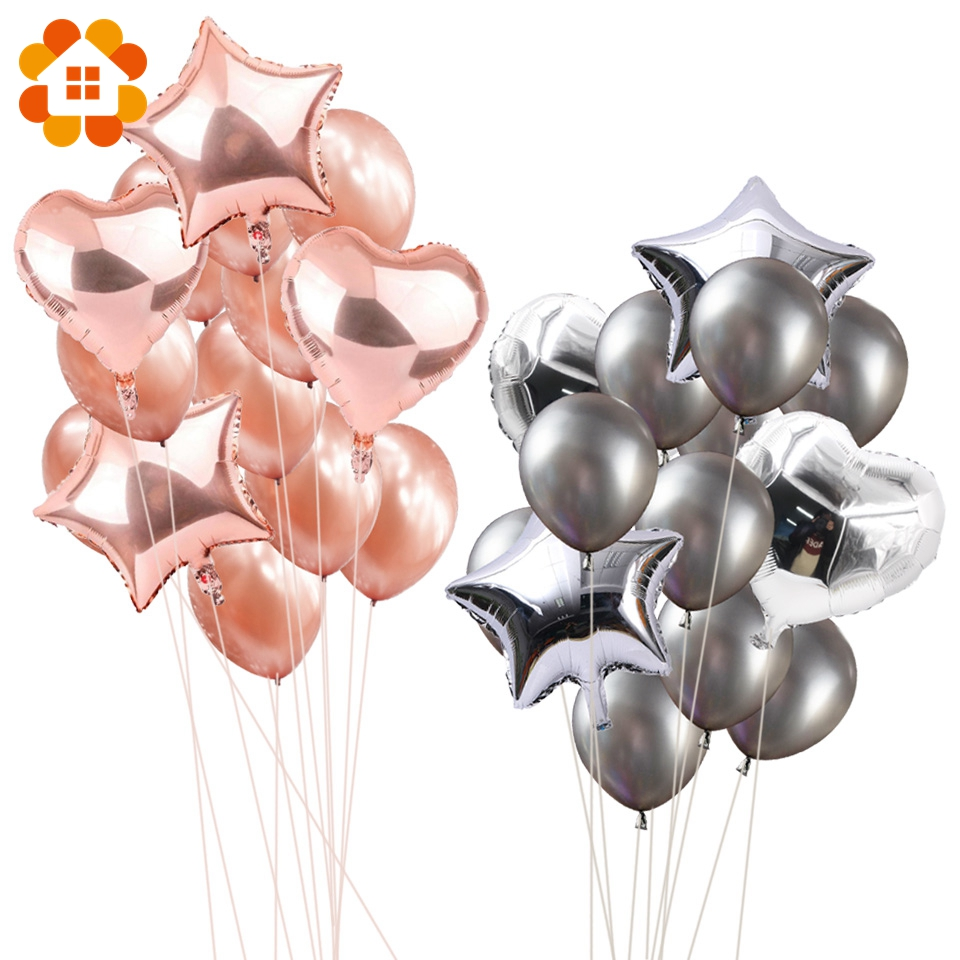 14pcs 12inch 18inch Multi Air Balloons Happy Birthday Party Helium ...