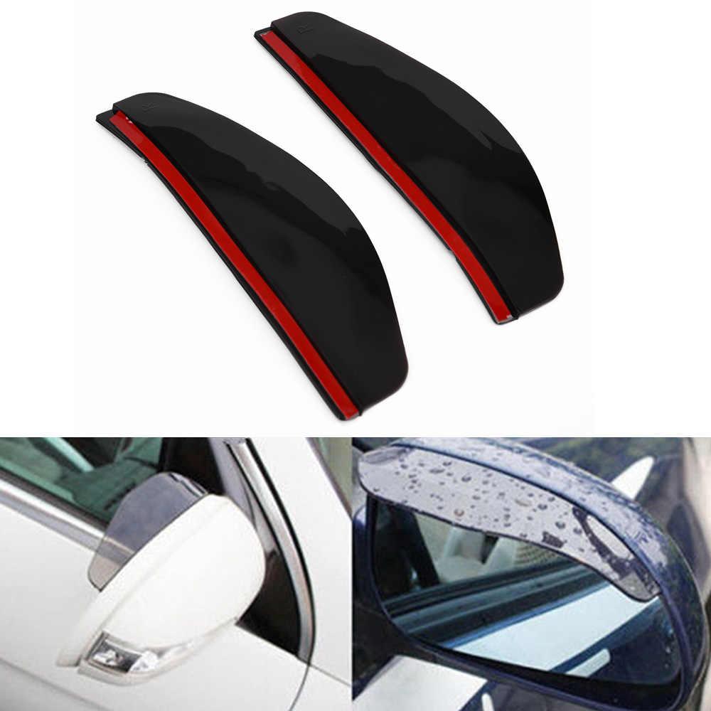 2 pièces/ensemble universel voiture rétroviseur latéral pare-pluie pare-soleil ombre bouclier haute qualité 184*60*7mm miroir pluie sourcil couverture