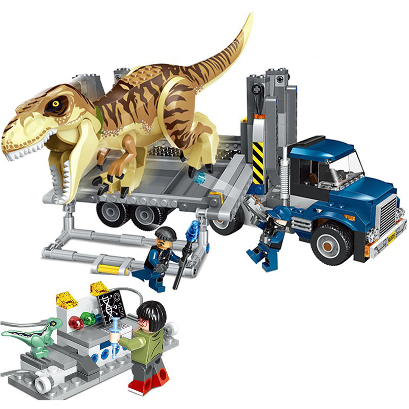 Jurassic World 2 T Rex Transport Building Blocks Indominus Dinosaur Legoings 75933 Jurassic Dinosaur Toys Bricks for Kids Gift building blocks 82028 jurassic world indominus rex tyrannosaurs t rex building blocks toys dinosaur bricks children gift toys