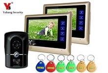 Yobang Security RFID Access 7″LCD Video Door Phone Rainproof Doorphone IR Night Vision Video Doorbell Speakerphone Intercom