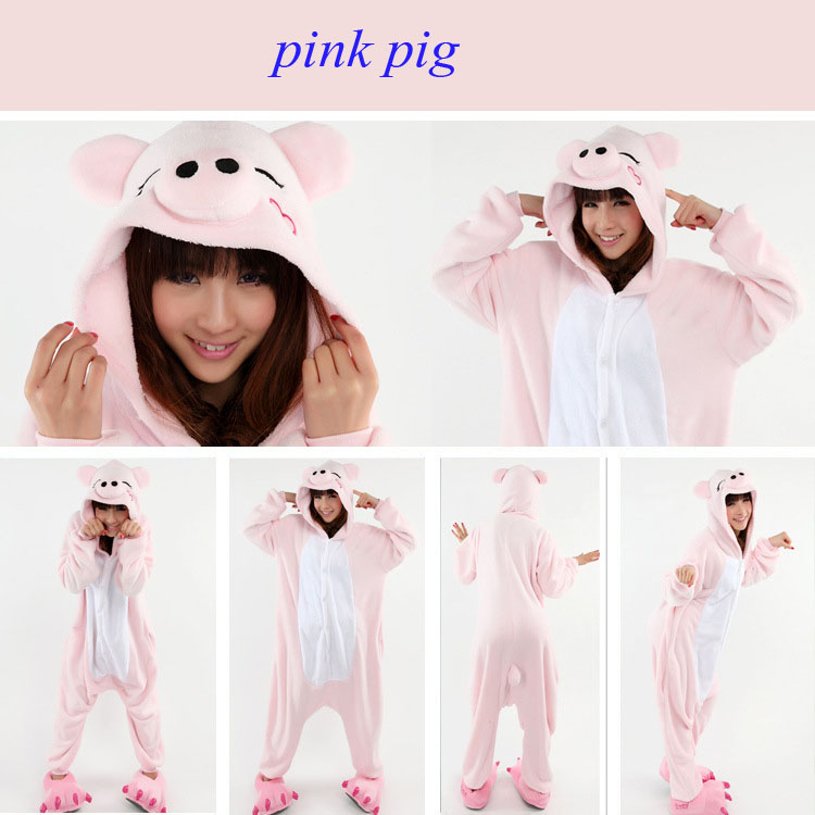 pink pig onesie for adults kigurumi