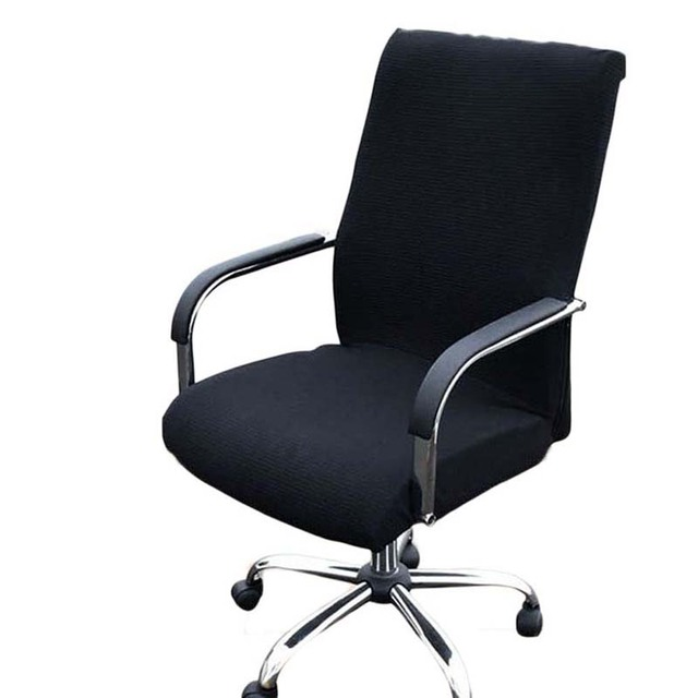 office chaise. Elasticity Office Computer Chair Cover Side Arm Recouvre Chaise Stretch Rotating Lift