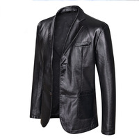 Men's leather jackets fashion leisure leather coat leather male male big yards