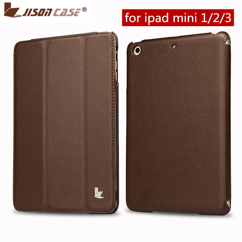 Jisoncase For iPad mini 2 3 Flip Case PU Leather Smart Luxury Cover Tablet Cases For iPad Mini 1 2 3 Smart Cover Auto Wake Up