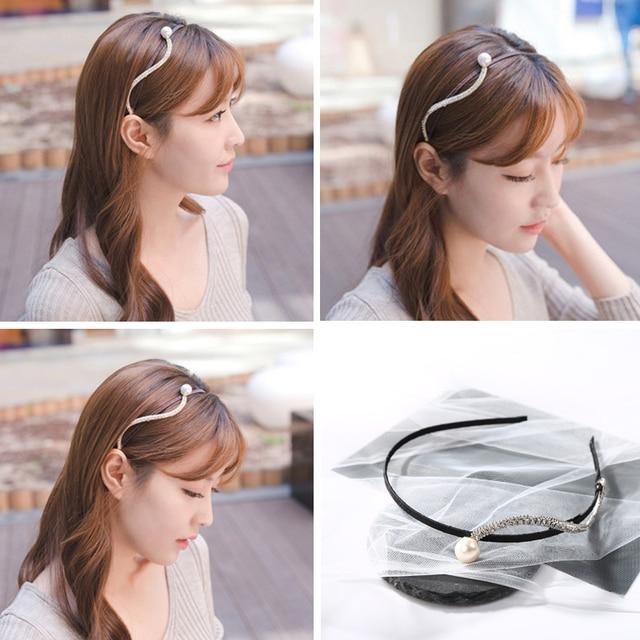Women s Fashion Hair Accessories 2018 New Hairstyle Braided Headband Hair  Hoop Flower Wave Crystal Hair Bands for Women Girls 7239574c8fb