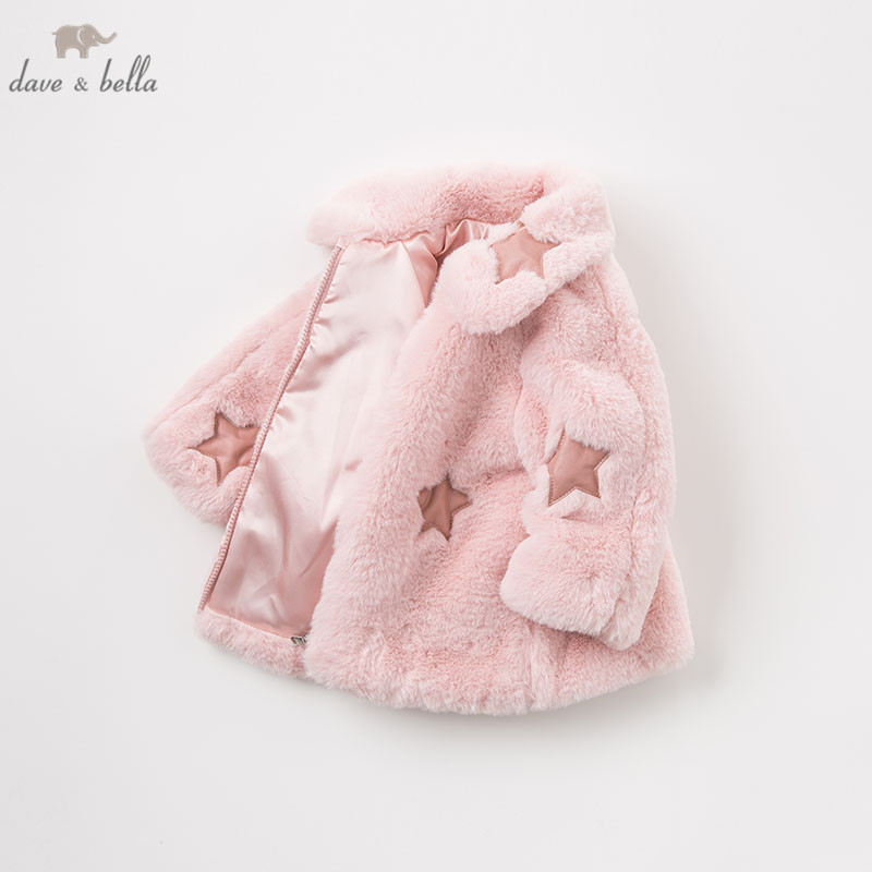 DB8478 dave bella autumn winter baby lolita girls lovely jacket children high quality coat infant toddler