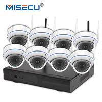 MISECU Wifi 8ch HDMI KIT Plug Play 2 0MP 1080P Vandalproof Night Vision 4TB Wireless Nvr