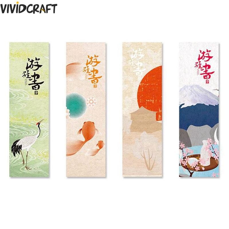 30pcs/lot Kawaii Paper Bookmark Vintage Japanese Style Book Marks For Kids School Creative Retro Style Bookmark Bookmarks