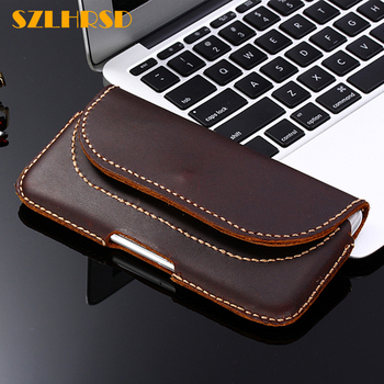 SZLHRSD Vintage Belt Clip Phone Bag for Xiaomi Redmi 6 pro Redmi Y2 S2 Case Genuine Leather Holster for Xiaomi Mi 5s Plus cover