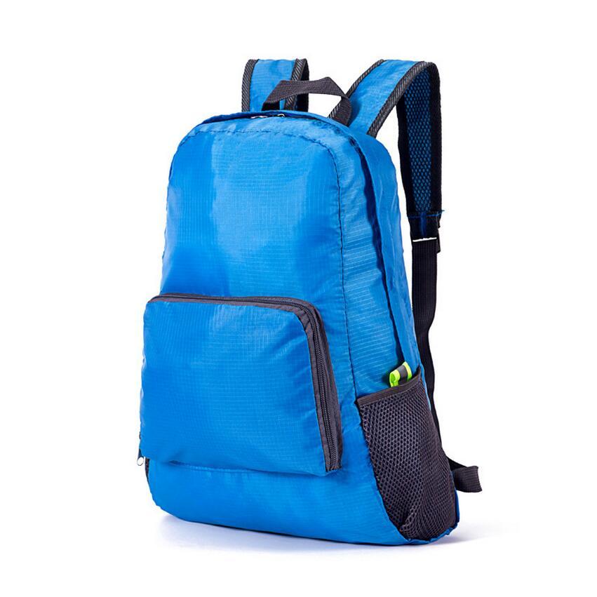 dobrável mochila bolsa de viagem Color : Blue, green, red, orange