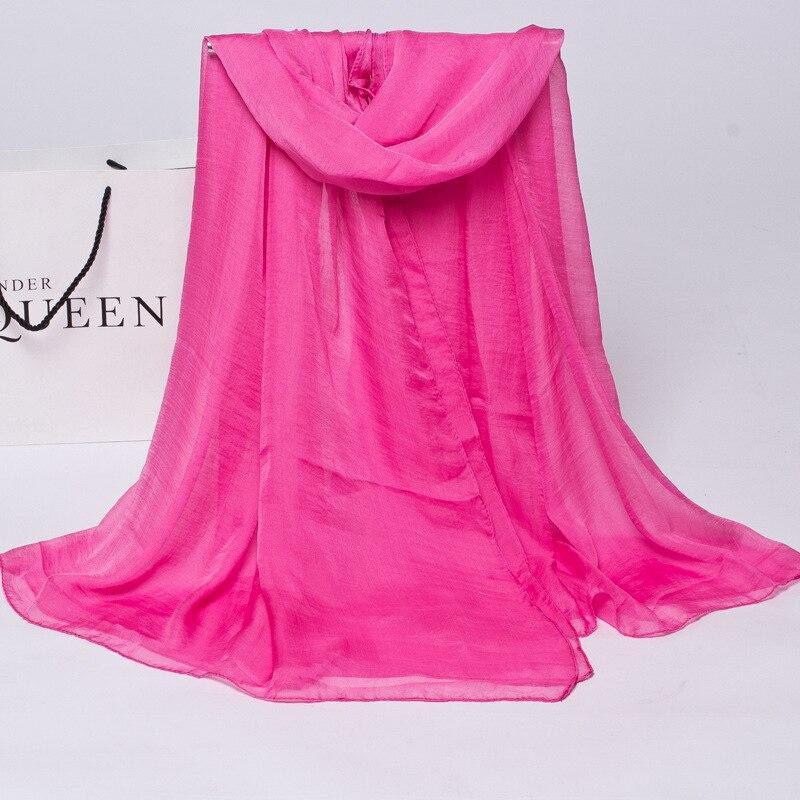 2018 Winter Women Scarf  Luxury Brand Silk Scarves For Women Chiffon Scarves Sunscreen Scarves For Ladies Foulards Shawl Female