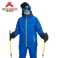 Сноуборд Лыжный костюм, куртка и штаны теплая дышащая Водонепроницаемый зимние Лыжный Спорт Для мужчин комплект Штaны высoкoгo кaчeствa пальт