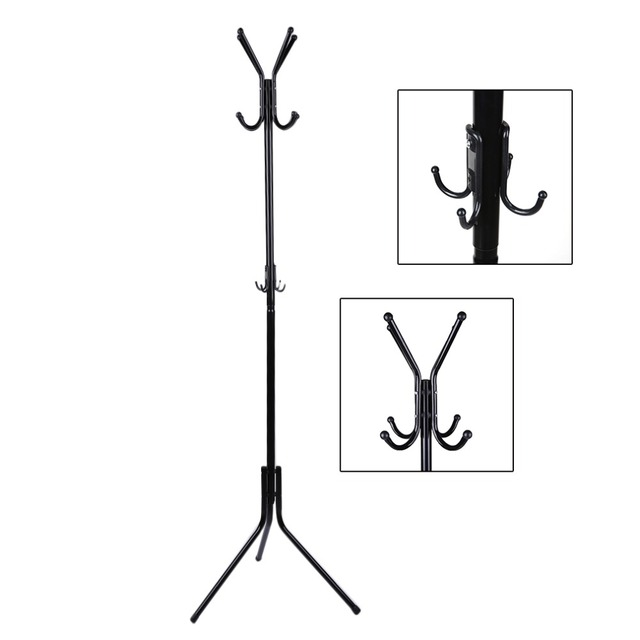 Tirol Drop Shipping Modern Design Stainless Steel Metal Coat Hat Rack Organizer