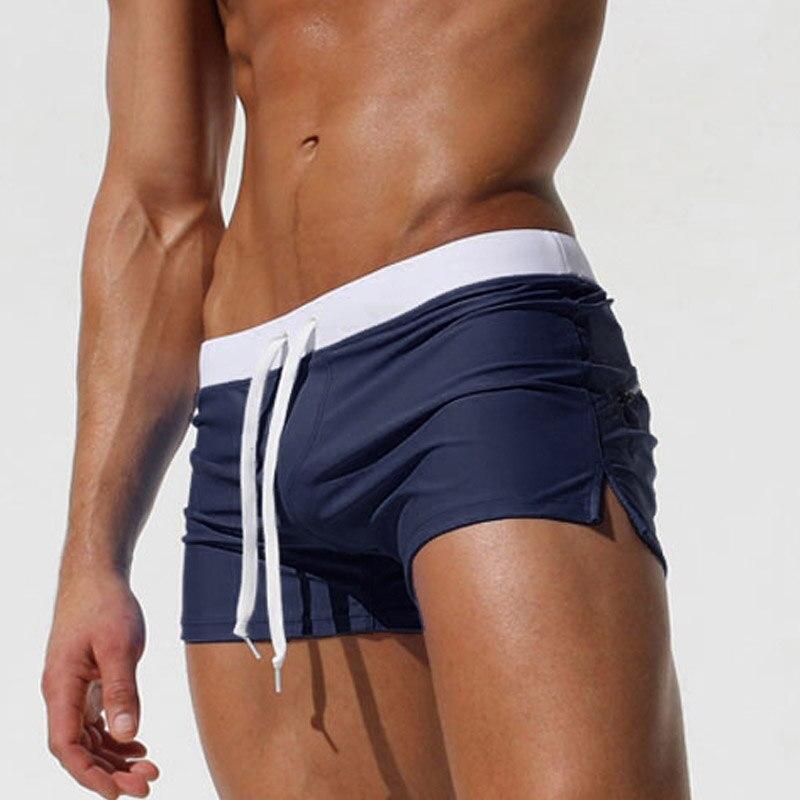 섹시한 남성 수영복 복서 트렁크 브랜드 고품질 - 남성 의류 - 사진 4