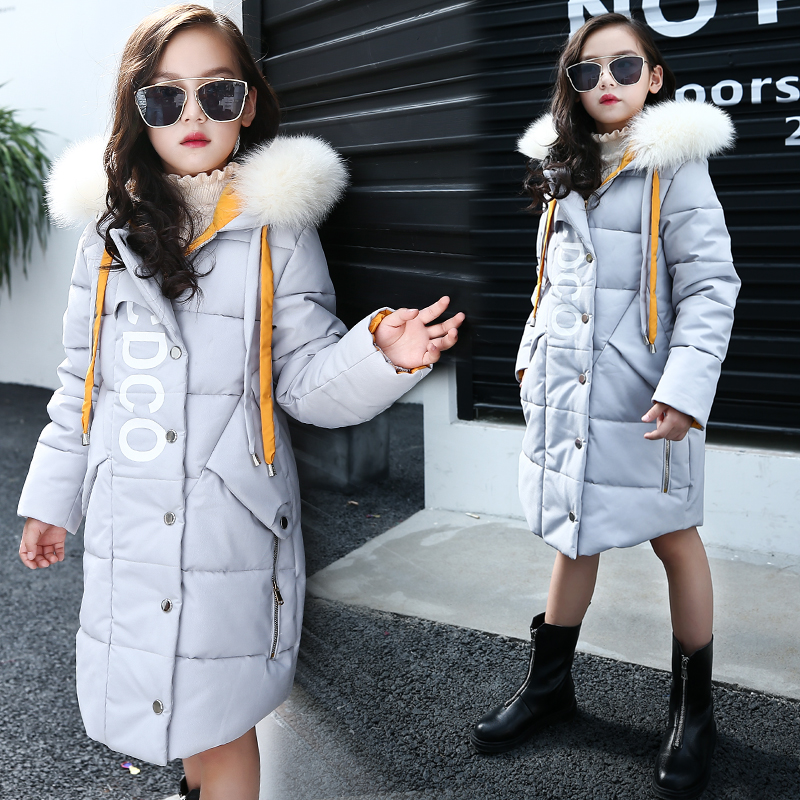 2018 Girls Winter Russia Down Jackets & Coats Children Fashion Cotton Down & Parkas Kids Warm Outerwear & Coats For -30 Degree 2017girl down jackets coats for winter warm baby girl down outerwear