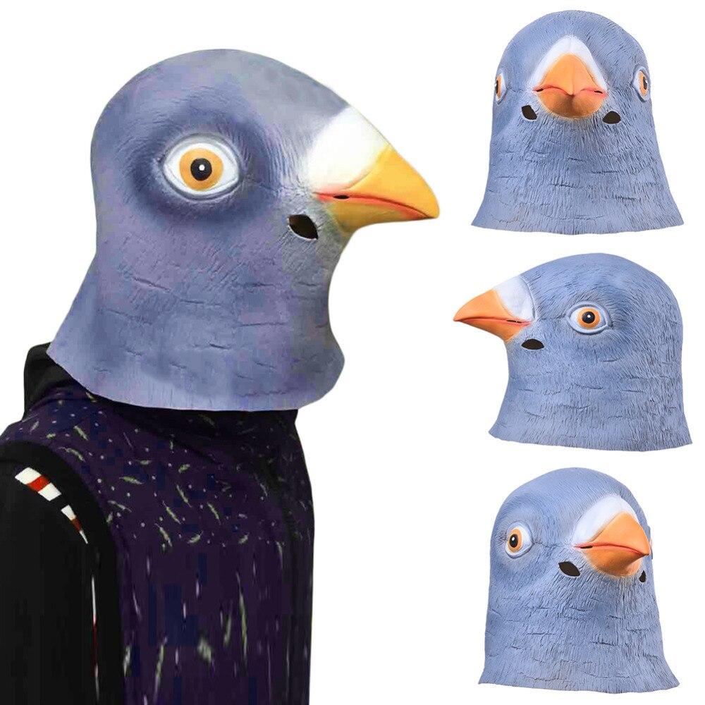 Full Face Maske Für Erwachsene Atmungs Halloween Maskerade Taube Latex Maske Halloween-maskottchen-kostüm-abendkleid-tier Dove Kopf Maske Sieht Echt für Cosplay