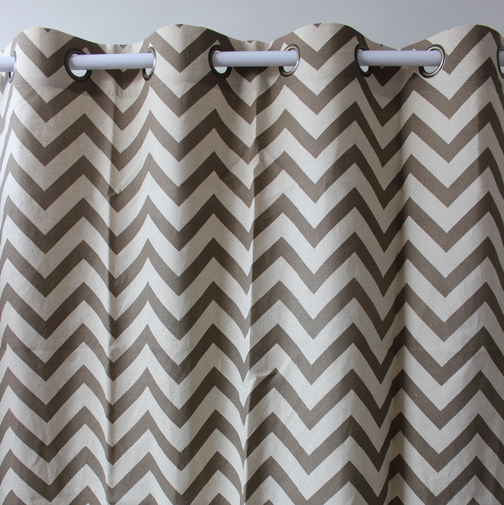 New Arrival Chevron Geometrics Abstract Brown Linen Window Ready Curtains  Panel Door Bedroom Living Room Store