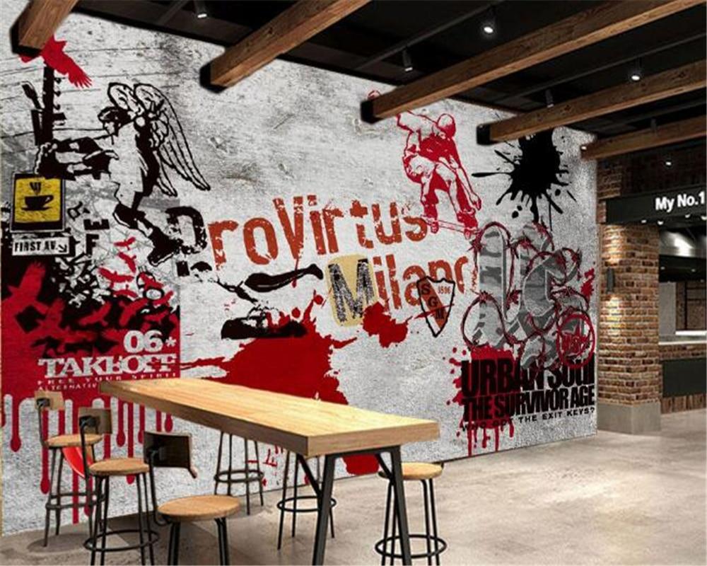 Beibehang 3d wallpaper home decorative mural street for Wallpaper home improvement