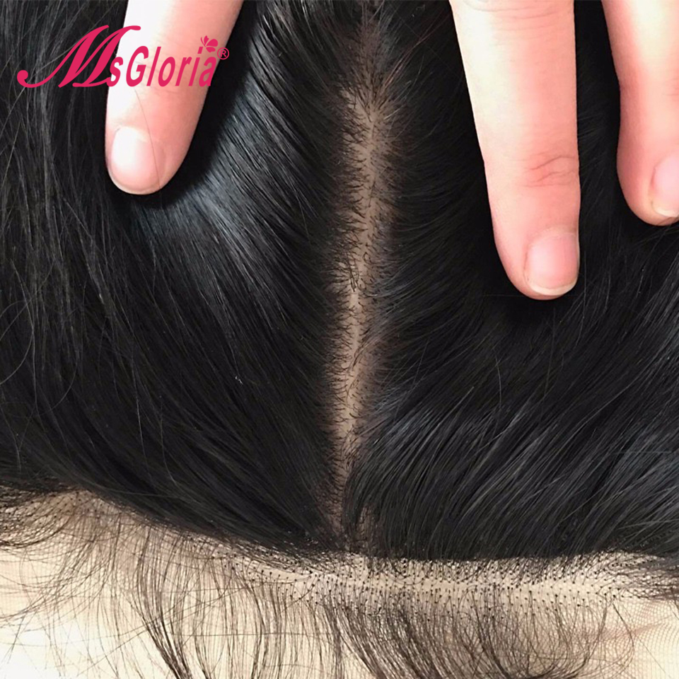Silk Top Full Lace Human Hair Wigs Peruvian Straight Remy Hair Lace Front Silk Base Wigs For Women With Baby Hair Msgloria