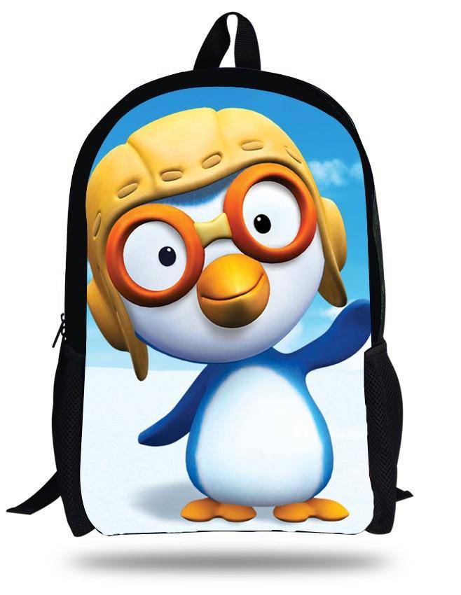 100% Wahr 16-zoll Die Kleinen Pinguin Pororo Mochila Schultasche Kinder Junge Karikatur Pororo Rucksack Kinder Casual Daypack