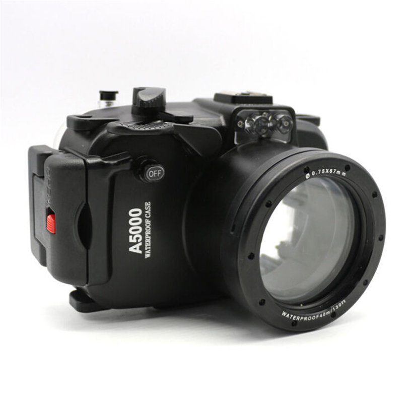 Meikon 40m 130ft Waterproof Underwater Diving Camera Housing Case For sony A5000 16 50mm lens