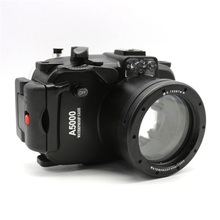 Meikon Için 40 m 130ft Su Geçirmez Sualtı Dalış Kamera Konut Case sony A5000 16-50mm lens