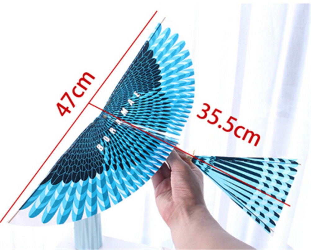 Science Kite Toys For Children Adults Handmade DIY Rubber Band Power Bionic Air Plane Ornithopter Birds Models Assembly Gift