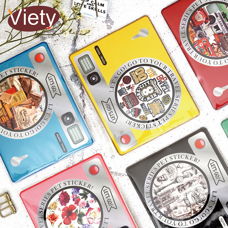 30 Teile/los Vintage Kamera Zeitung PVC Papier Aufkleber DIY Dekorative Tagebuch Sammelalbum Planer Aufkleber Kawaii Schreibwaren Papeleria
