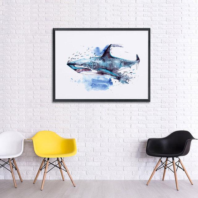 Shark watercolor print painting unique white shark wall art decor shark watercolor print painting unique white shark wall art decor arts greeting cards fine art paper m4hsunfo
