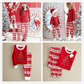Navidad Mujeres Hombres Casual Familia pijamas de dormir ropa de Dormir de Impresión de Manga Larga Floja