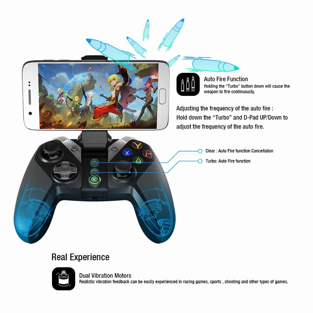 GameSir G4/G4s Bluetooth Gamepad For Android TV BOX Smartphone Tablet  Optional 2 4Ghz Wireless / USB Dongle Receiver